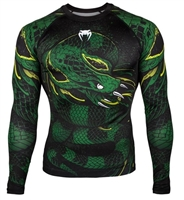 Venum Green Viper Rashguard - Long Sleeves - Black/Green