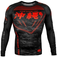 Venum Okinawa 2.0 Rashguard - Long Sleeves - Black/Red
