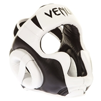 "Venum ""Absolute 2.0"" Headgear - Black & White - Nappa Leather"