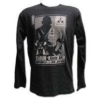 JJPG Long Sleeve Shirt - Ronin - Black with Gray Design