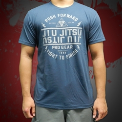 JJPG Push Forward T-shirt - Indigo with Gray Desig