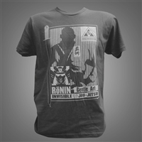 JJPG T-shirt - Ronin - Charcoal Gray with Gray Design