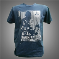 JJPG T-shirt - Ronin - Indigo with Ivory Design