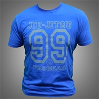 JJPG 99 T-shirt - Heather Royal Blue with Gray Print