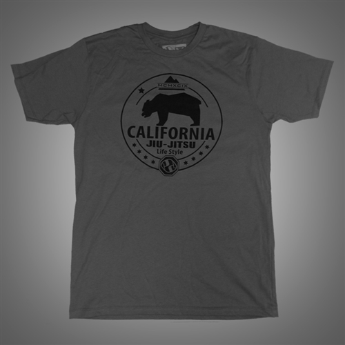 T-shirt - California Lifestyle - Gray with Black Print