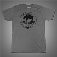 JJPG T-shirt - California Lifestyle - Light Gray with Black Print