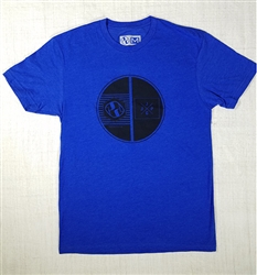 JJPG T-shirt - Element - Heather Royal with Black Print