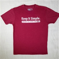 JJPG T-shirt - Keep It Simple - Cardinal with White Print