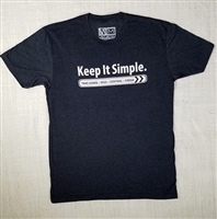 JJPG T-shirt - Keep It Simple - Charcoal with White Print