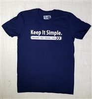 JJPG T-shirt - Keep It Simple - Navy with White Print