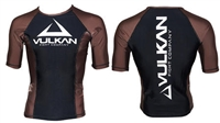 Vulkan - Rash Guard - 2015 Vulkan IBJJF S/S - BROWN RANK