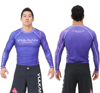 "Vulkan ""CHALLENGE"" Long Sleeve Rashguard - Purple"