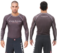 "Vulkan ""CHALLENGE"" Long Sleeve Rashguard - Brown"